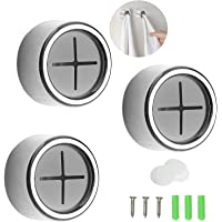 3Pcs Kitchen Towel Hooks,Round Tea Towel Holders Self-Adhesive and Drilling Mounting Both Available Creative Kitchen…