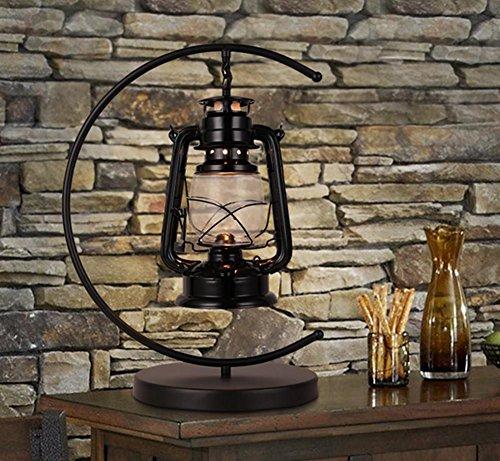 mer-Schalter Tischlampe Kerosin Lampe Retro Nostalgie Pferd Lampe Schlafzimmer Nachttischlampe (Breite 36cm, hoch 49cm) (Schwarze Und Weiße Kunststoff Tisch Deckt)