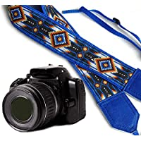 intepro Native American inspiriert Kameragurt. Blau Southwestern Ethnische Kamera Gurt. Helle Tribal Kameragurt. DSLR/SLR Kamera Gurt. Robust, leichtes und gut gepolstert Kamera Strap. Code 00055