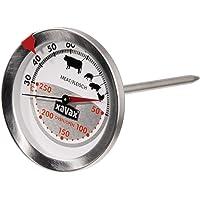 Xavax Thermomètre mécanique spécial four et viandes (2 en 1, en acier inoxydable, mesure simultanée du four et de la…