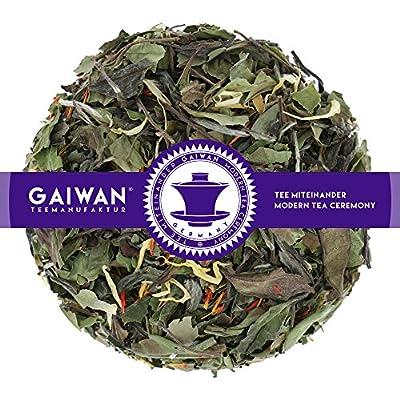 """N° 1104: Thé blanc """"Pai Mu Tan méditerranée"""" - feuilles de thé - GAIWAN® GERMANY - thé blanc de Chine, safran des teinturiers, souci"""
