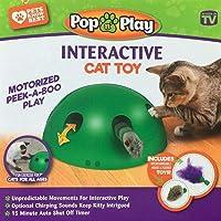 Ysimee Katzenspielzeug Elektrisch, Interaktive Bewegung Spähen Sie EIN Boo-Katzenspielzeug,Teaser-Maus-Quietschgeräusch…