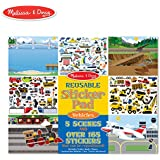 Melissa & Doug Vehicles Reusable Sticker Pad (Extra Large Sticker Activity Pad, Removable Backgrounds, 165+ Stickers)