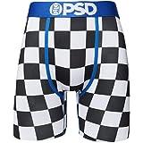 PSD Underwear Men's Stretch Elastic Wide Band Boxer Brief Underwear Bottom |Breathable, 7 inch Inseam |