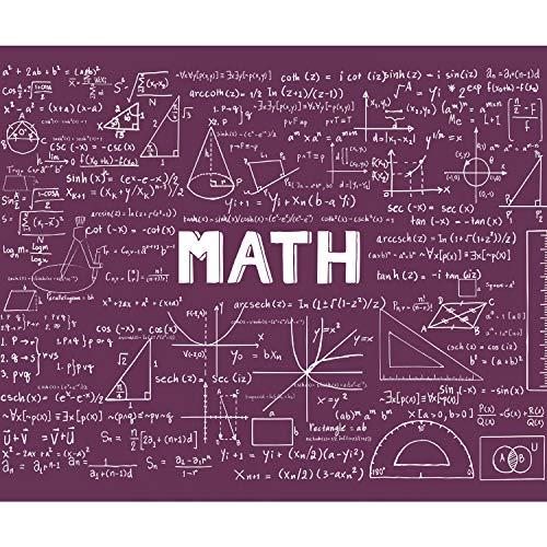 Rose-formel (decomonkey Fototapete selbstklebend Tafel 392x280 cm XXL Selbstklebende Tapeten Wand Fototapeten Tapete Wandtapete klebend Klebefolie Mathematisch Geometrie Formel Violett Rose FOB0224c84XL)