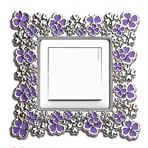 Fablcrew Lila Blumenmuster Kreativer Wandaufkleber Applique Art Wanddekoration Kreatives Zuhause Dekorativer Lichtaufkleber Inneneinrichtung -