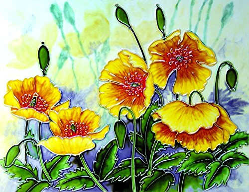 yh-arts-yellow-poppies-ceramic-tiles-multi-colour-11-x-14-inch