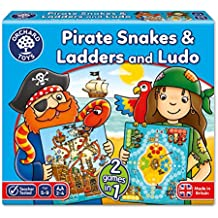 """Orchard Toys - Gioco per bambini 2 in 1 """"Pirate Snakes and Ladders & Ludo"""", 5-9 anni [lingua inglese]"""
