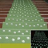 yaaas2u 2Stück Stufenmatten Teppich Mats Treppen Corner, Treppe Matten rutschfeste selbstklebend Luminous Home Teppich–22x 55x 4,5cm–grün | mehrere Farbe Optionen grün