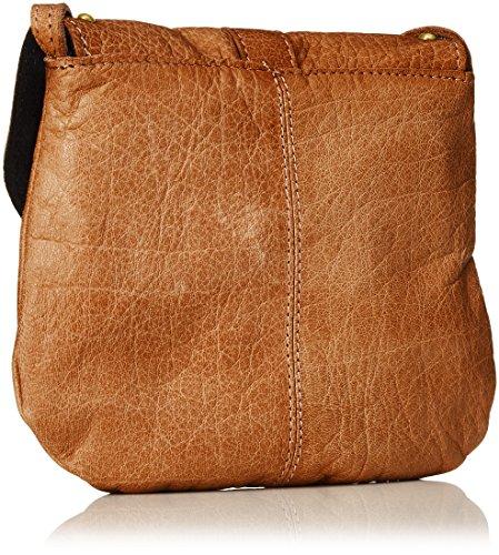 PIECES Damen Pcnadeen Leather Cross Body Umhängetasche, 5x21x26 cm Braun (Cognac)