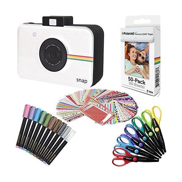 Snap, zip, Z2300 Nero Polaroid photo album per 2x3 Zink Carta Fotografica