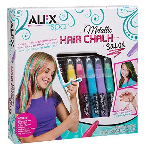 Alex Toys Salon-Set mit verschiedener Haarkreide, Metallic