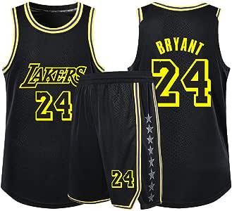 JY Los Angeles Lakers Basketball Jersey James Bryant Basketball-Bekleidung Sportswear Purple Kobe Bryant # 24-160-165cm/