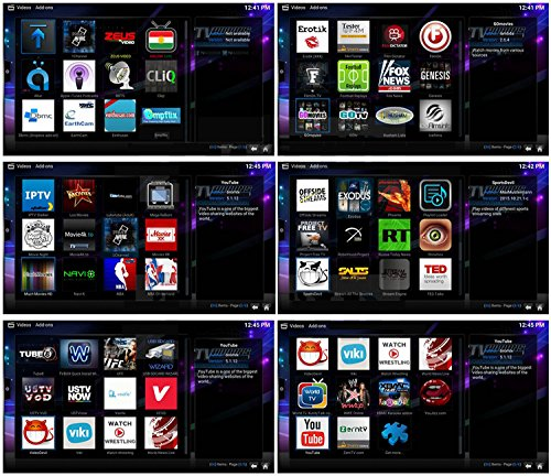 Android 6.0 TV Box, SEGURO X2 KODI 16.1 Streaming Media Player Amlogic S905X Quad Core 2GB+8GB eingebaute WIFI mit vorinstallierte Add-ons - 5