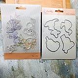 Xmiral Fustelle per Scrapbooking per Carta Cutting Dies Metallo Fustella Stencil #19032702F, Accessori per Big Shot e Altre Macchina(C)