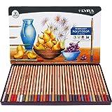 Lyra Rembrandt Polycolor - Estuche metálico 36 lápices artísticos de colores, uso profesional, alta resistencia a la luz y al agua, mina de 4 mm diámetro