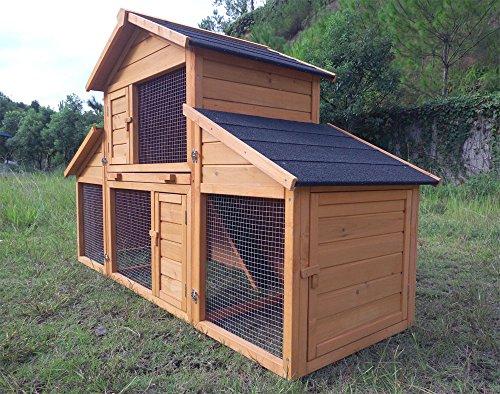 """Kaninchenstall Kleintierhaus Hasenstall Kleintierkäfig Nr. 01 """"Möhrchen"""" mit Seitenflügeln - 2"""