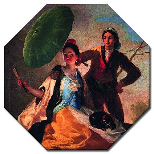 Bilderdepot24 Kunstdruck - Alte Meister - Francisco de Goya - der Sonnenschirm - Achteck 50x50 cm -...