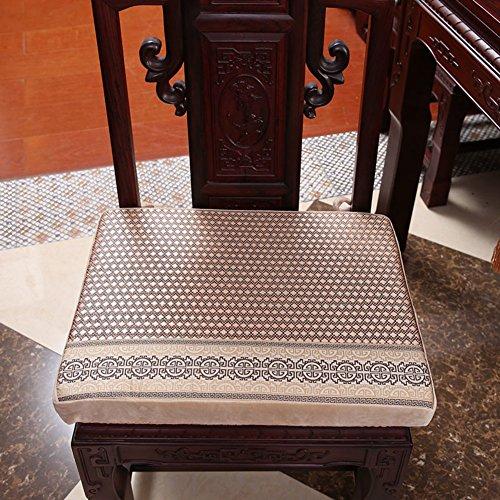 xinping Chair Pads Stuhlunterlage Stuhlunterlage Sofakissen Anti-Rutsch-Esszimmerstuhl Kissen, a, 38x44cm(15x17inch) -