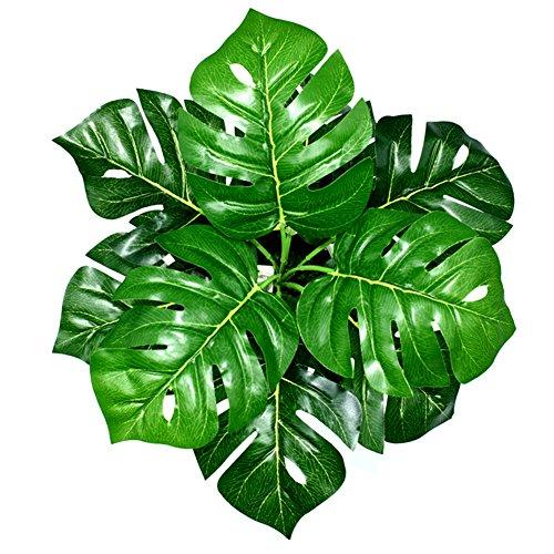 �nstliche Pflanzen Blätter Kunststoff Pflanze Dekoration für Hausgarten Büro - Tropical Palm Leaves ()