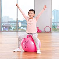 Creelziy Sit and Bounce Rubber Hop Ball for Boys Girls Toys | Balls for Kids (Multicolour)