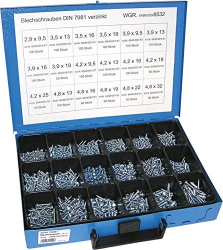 Preisvergleich Produktbild Dresselhaus Sortimente Blechschrauben DIN 7981 galvanisch verzinkt,  1 Stück,  0 / 4499 / 000 / 8532 / 06