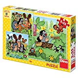 Dinotoys 335158 Hoher Qualität Puzzle;Kleines Maulwurf-Motiv, 3x55 Stück