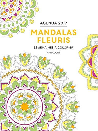 Agenda à colorier mandalas fleuris 2017