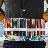 skgardeniamy 36/48/72 fori portatile tela Wrap Roll Up scuola disegno artistico Astuccio, Tela, Star Sky Color, 72 Löcher