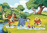 Tapetokids Fototapete - Disney Winnie Pu Bär Ferkel Tiger I-Aah - Vlies 416 x 254 cm (Breite x Höhe) - Wandbild Wald Baum Kinder Baden