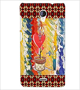 PrintDhaba Funny Image D-4600 Back Case Cover for MICROMAX A106 UNITE 2 (Multi-Coloured)