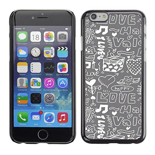 Graphic4You Art Hearts Design Harte Hülle Case Tasche Schutzhülle für Apple iPhone 6 / 6S Design #1