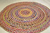 Best Braided Rugs - Fair Trade Large Round 120cm Multi Coloured Mat Review
