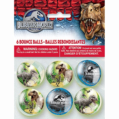 Jurassic World Bouncing Balls Party Tasche Fillers, Packung mit 6 Stk.