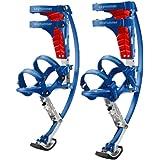 Skyrunner - Scarpe a canguro per bambini e bambini, per saltare, con pogo primaverile, colore: blu, portata di carico 30-50 k