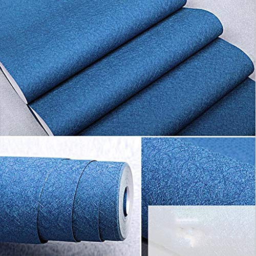 Seide Doppelbett (HQYXGS Einfache Tapete pink, dunkelblau Seide beige Farbe PVC wasserdicht Tapete - 1000 x 394 x 53 cm (21 Zoll))