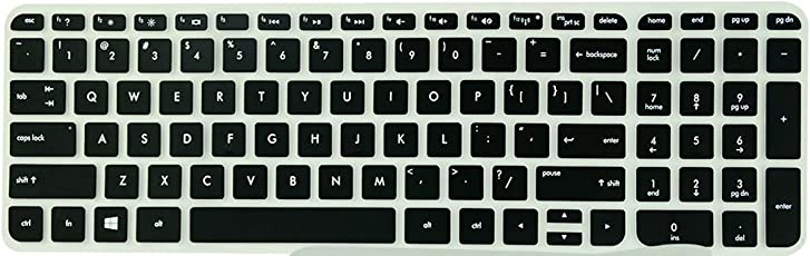 Saco Chiclet Keyboard Skin for HP 15-r014TX Notebook (Black/Clear)