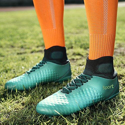 Herren Fußballschuhe AG Spike Microfaser Cleats Jugendliche Beruf Athletics High Top fußball - schuhe Blau