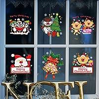 Pegatinas de Navidad, navidad decoracion Navidad Copo de Nieve, pegatinas de pared calcomanías de ventanas Escaparate, Tienda, Oficina ( 2 hojas X 30 * 90cm ) (Rojo)