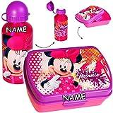 alles-meine GmbH 2 tlg. Set _ Lunchbox / Brotdose + Trinkflasche -  Disney - Minnie Mouse  - ..
