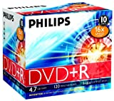 Philips DVD+R Rohlinge (4.7 GB Data/ 120 Minuten Video, 16x High Speed Aufnahme, 10er Jewel Cases)