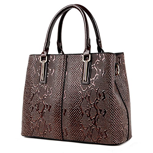 WU Zhi Onorevoli PU ​​messaggero Spalla Borsa Brown