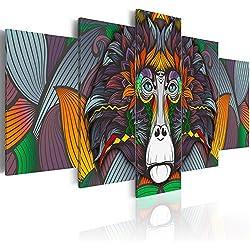 murando - Cuadro en Lienzo 200x100 cm - Abstraccion - Impresion en calidad fotografica - tejido-no tejido Lienzo - Cuadro - Cuadro - Colorido Animal Mono g-A-0115-b-p