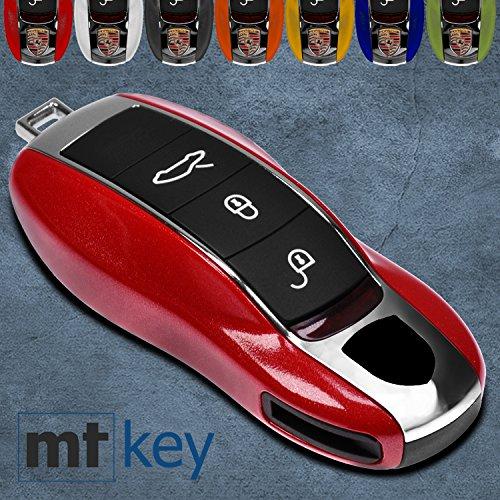 Für Porsche Klapp Schlüssel Cover Key Cover Schlüssel Funk Fernbedienung Blau