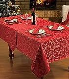 Home Betten Store Gold Rot Tischdecke 132,1x 177,8cm Designer Luxus bedruckt xmas/Weihnachten Heather