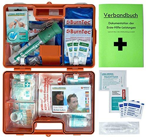 Erste-Hilfe-Koffer Gastro für Betriebe Din/EN 13157 inkl. Augenspülung + Brandgel + detektierbare Pflaster + Hydrogelverbände (Kantine-set)