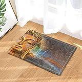 gohebe Buddha Art Decor Watercolor Head of Buddha für Zen Bad Teppiche rutschhemmend Fußmatte Boden Eingänge Innen vorne Fußmatte Kinder Badematte 39,9x 59,9cm Badezimmer Zubehör