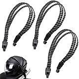 Rayong 3 Stks Elastische Fietsband 68-100 cm Fiets Elastische Touw Verstelbare Fiets Bungee Cords met Haken voor Fiets en Mot