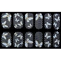 Arte de uñas: Calcomanías y autoadherentes Transferible con Agua XFJU068 Pegatina Tatuaje para Uñas Nail Sticker - FashionLife