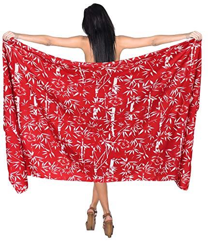 LA LEELA Women's Large Size Beach Holiday Sarong Wrap Skirt Lightweight Swimsuit Swimwear Maxi Dress Pareo Scarf Bathing Towel Likre 1695 Printed